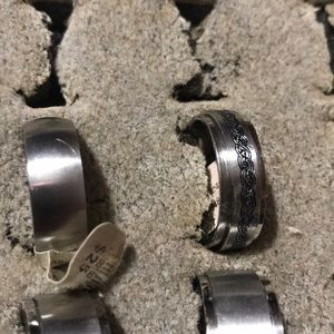 Other - Stainless Steal rings size 12